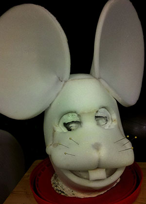 Foam Mouse Mask In-Progress