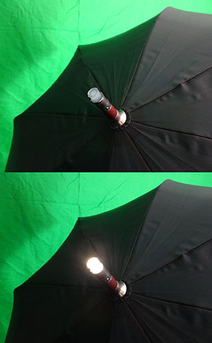 Remote Control Super-Bright Light-Up Umbrella for Penguin Cosplay