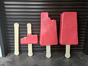 Giant Popsicle Displays