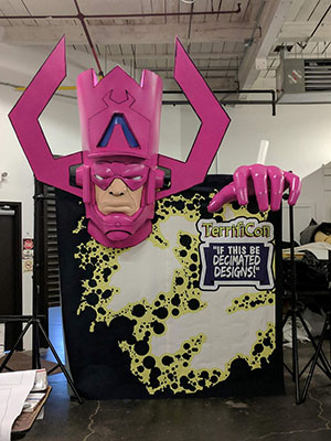 Giant Galactus Display for TerrifiCon 2017