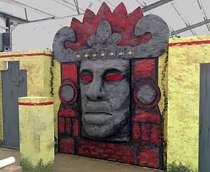Animatronic Olmek Head for Legends of the Hidden Temple Section of Nickelodeon Touring Show