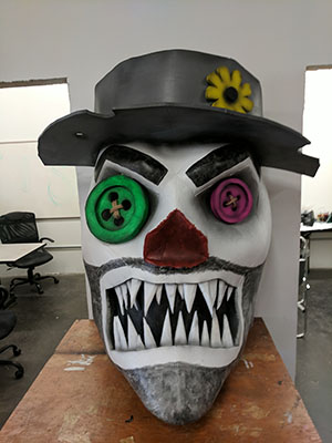 Customized Medium-Sized Hobo Clown Variant of our Giant Foam Scarecrow Head
