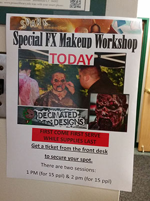 Special Effects Makeup Class Poster