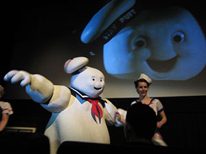 The Stay Puft Costume Performs with The Minions of Gozer shadowcast show
