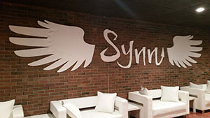 Foam logo created for Synn Lounge