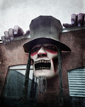 Custom Giant Top Hat Zombie