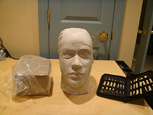 Completed Lifecast Ready for Sculpting