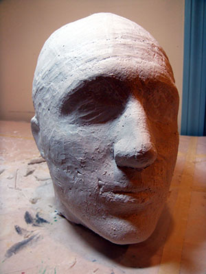 Completed Bandage Lifecast