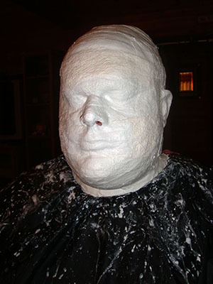 Bandage Lifecast In Progress