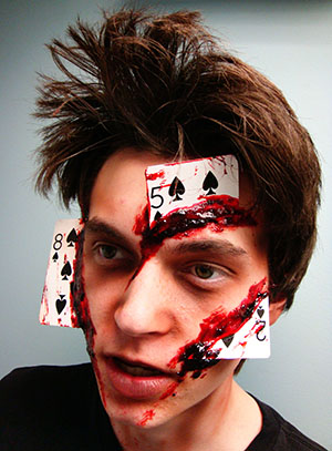 Bloody Poker Face makeup