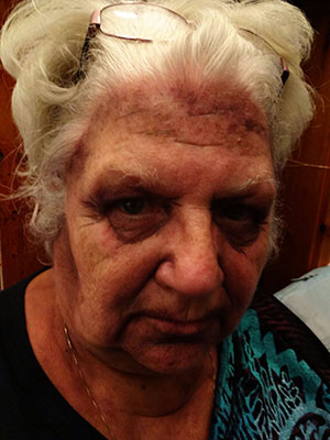Evil Granny makeup for The Only Scream In Town haunted house