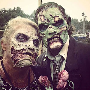 Zombie Couple at Zombie Charge