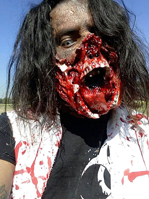 Mouthless Zombie at Zombie Charge Texas