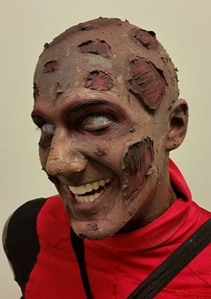 Comic-Style Deadpool makeup