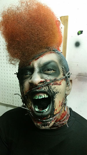 Cenobite-Style Demonic makeup at The Only Scream In Town haunted house