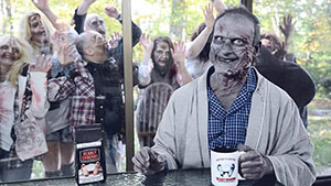Zombie Spokesman for Deadly Grounds Coffee