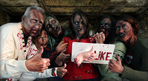 Zombie Christmas Card makeups