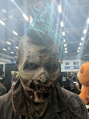 Prosthetic Zombie Makeup at CT Horrorfest 2017