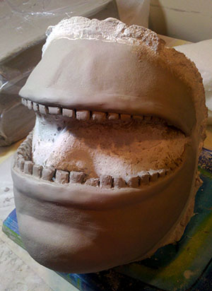 Mouth Face Prosthetic Sculpt
